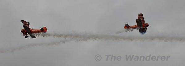 Breitling Wingwalkers acrobatic display. Foynes Air Show. Sun 26.07.15
