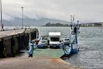 The car ferry arrives at Valentia Harbour. Sat 15.07.17