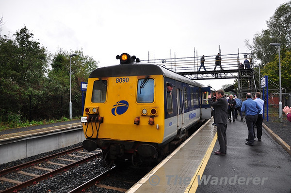 8090 + 8094 at Ballymoney on the Coleraine - Belfast Central leg of the tour. Sun 25.09.11